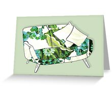 Sofa Greeting Card