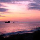 Purple Sunset by Faith Barker Photography