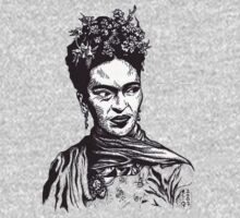 Tender Self Belief (portrait of Frida Kahlo) by Angelique Moselle Price