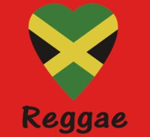 I Love Reggae Music - Jamaica Flag Sticker & Tee by deanworld