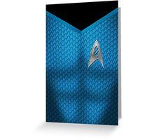 Star Trek Series - Scientist Suit - Spock Greeting Card