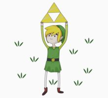 Triforce Link/Adventure Time Parody Mashup Kids Clothes