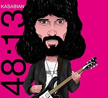 Sergio Pizzorno - Kasabian - Caricature by monkeycircusart