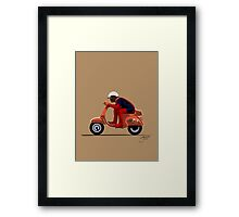 Deadpool Vespa Framed Print