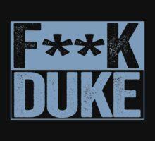 F--K DUKE - University of North Carolina Fan Shirt - Haters Gonna Hate - Censored Blue Box Version T-Shirt