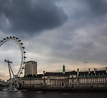 River View with London Eye by Nicole Petegorsky