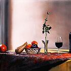 Villa Cafaggio Still Life by Matthew  Bates