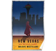 Fallout New Vegas Vintage Style Poster Poster