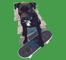 SK8 Staffy Dog Kids Clothes