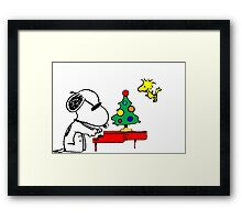 Merry Snoopy Framed Print