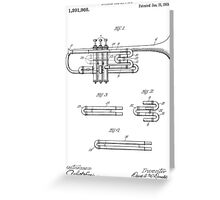 Trumpet patent from 1919 Greeting Card