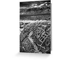 Paiute Petroglyphs and the White Mountains Greeting Card