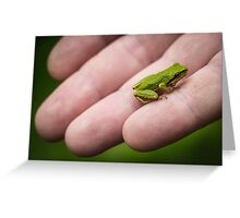 Little Green Frog Greeting Card