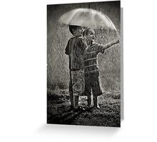 Sunshower Play Greeting Card