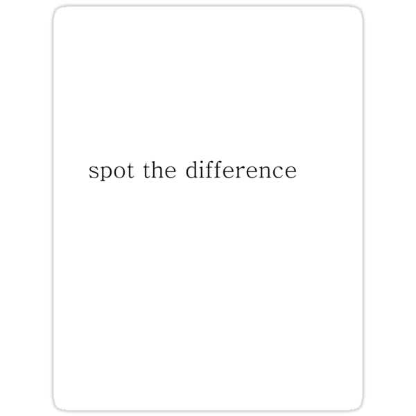 Spot the difference by MrsO