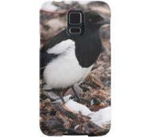 Magpie's Winter Forage Samsung Galaxy Case/Skin