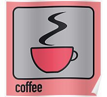 coffee red Poster