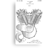 Harley Engine patent from 1919 Canvas Print
