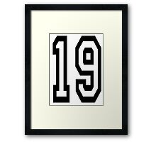 TEAM SPORTS, NUMBER 19, NINETEEN, NINETEENTH, Competition,  Framed Print
