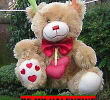 Be my Valentine Bear by sword