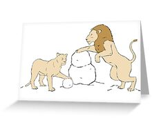 Snow Lions Greeting Card