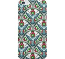 Bluebird Art Deco Pattern iPhone Case/Skin