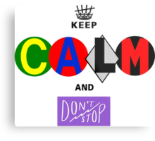 5 SECONDS OF SUMMER 5sos keep calm and don't stop Metal Print