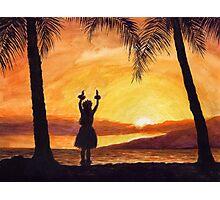Hawaii Mahalo Girl By Yuriy B. Photographic Print
