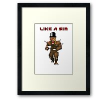 Dooming like a Sir. Framed Print