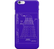 Bracewell's Ironside (Dalek) Blueprints iPhone Case/Skin