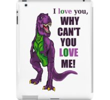 Purple Dinosaur iPad Case/Skin