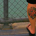 Tattoos on legs by wendy Wood