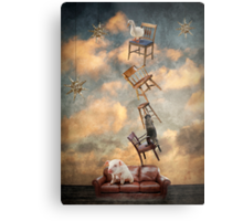 The secret lives of Gerda, the goose, Ricky, the racoon, and Pogo, the pig Metal Print