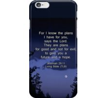 Bible Verse: Jeremiah 29:11 Words of Hope for the Future iPhone Case/Skin