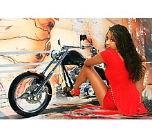 Beautiful in Red Photographic Print