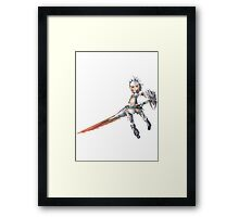 Barioth Armour and Lance Framed Print