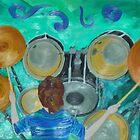 Drums self-portrait by Joni Philbin