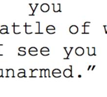 William Shakespeare Quote Sticker