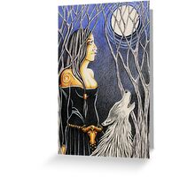 Howling Down The Moon Greeting Card