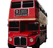 Iconic Red Routemaster Bus by mrdoomits