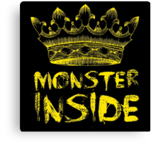 Monster Inside Canvas Print