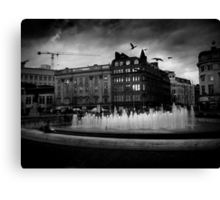 Manchester's Picadilly Gardens Canvas Print