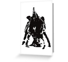 Five Against One Greeting Card