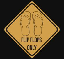 Flip flops only. Surf sticker for easy people. by 2monthsoff