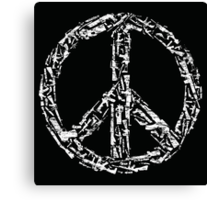 Weapon Peace black Canvas Print