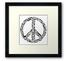 Weapon Peace white Framed Print