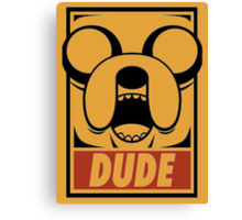 Adventure Time Jake Dude Canvas Print