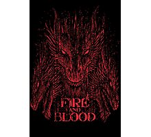 Fire and Blood Photographic Print