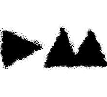 Depeche Mode : Ink Splats Logo DM 2013 - Black by Luc Lambert