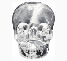 Crystal White Skull by rustandglimmer